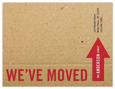 card we ve moved word template moving announcements the big move at minted