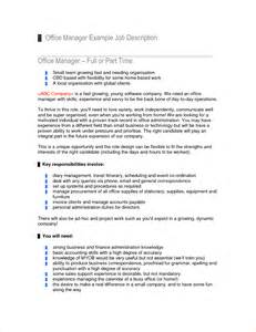 Responsibilities Office Manager by Administrator Description Template Business Templated Business Templated