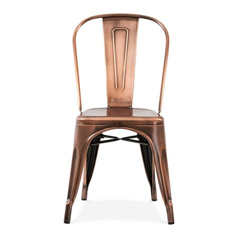 Copper Dining Chairs Copper Or Brass Industrial Dining Chair By Ciel Notonthehighstreet