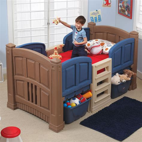 boy s loft storage twin bed kids bed step2