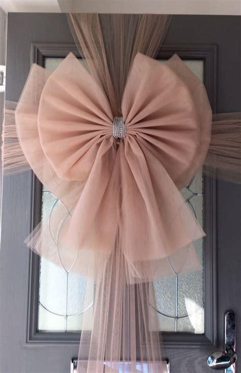 rose gold deluxe door bow decoration christmas door bows