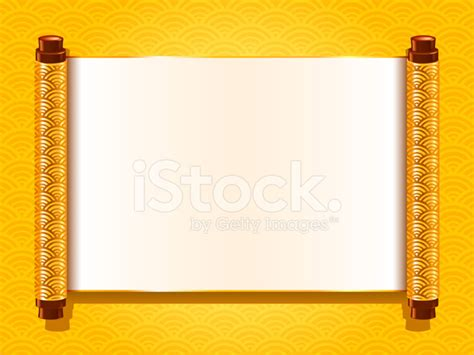 Tiny House For Family Of 4 Chinese Scroll Stock Vector Freeimages Com