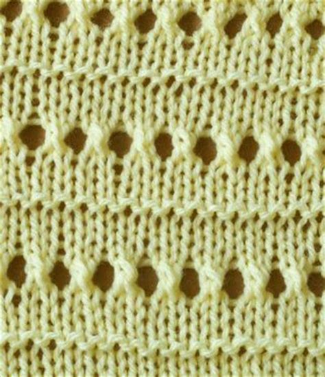 knitting pattern with holes eyelet stitch where you want the holes yarn over then knit
