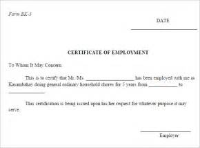Certification Letter Employment With Compensation employment certificate 36 free word pdf documents download free
