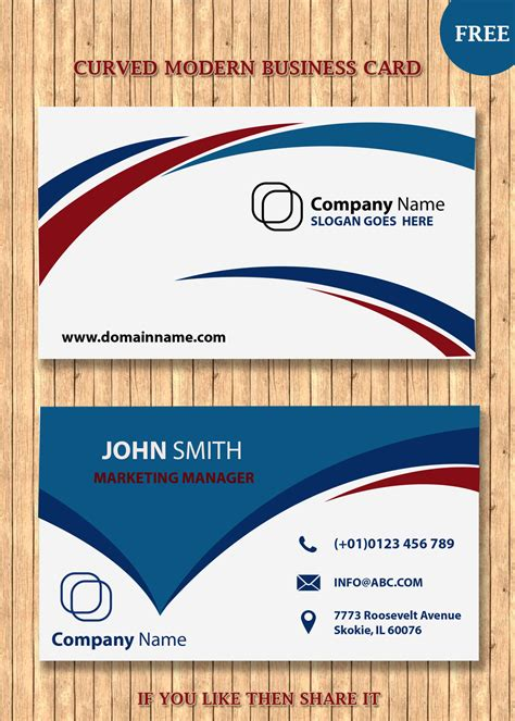 template for modern business card modern business card templates