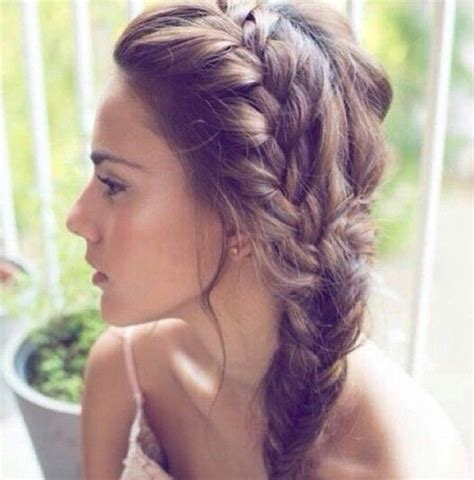 how to do a messy side braid messy side braid hairstyles pinterest braids messy