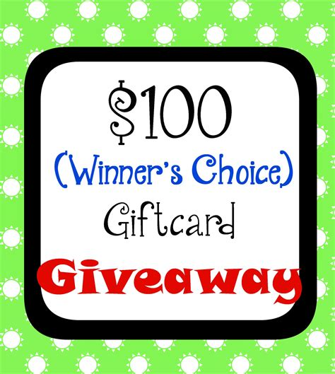 Giveaway Gift Card - 100 gift card giveaway life of creed