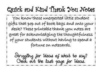 thank you letter to from elementary student and thank you notes from you to your student by