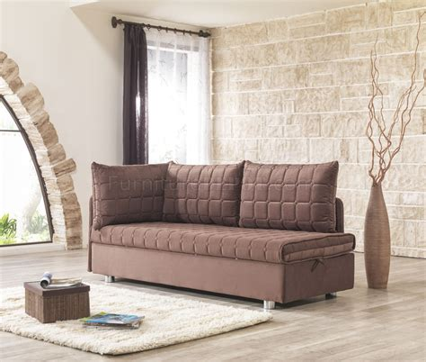 brown material sofa bed day sofa bed in brown fabric by casamode w options