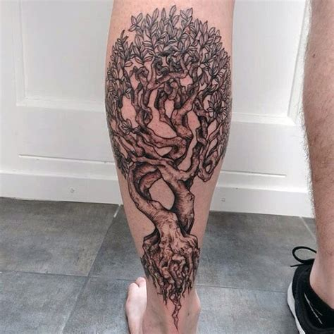 33 fantastic tree roots tattoos designs for your body