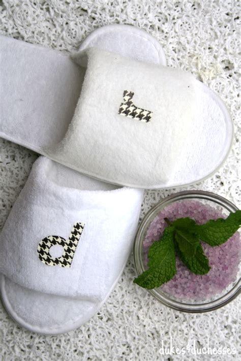 monogrammed bedroom slippers diy monogrammed slippers dukes and duchesses