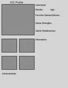 player profile template player profile template by the igc on deviantart