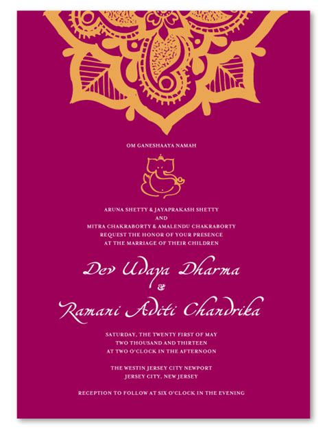 indian wedding invitation template indian wedding invitations henna flower