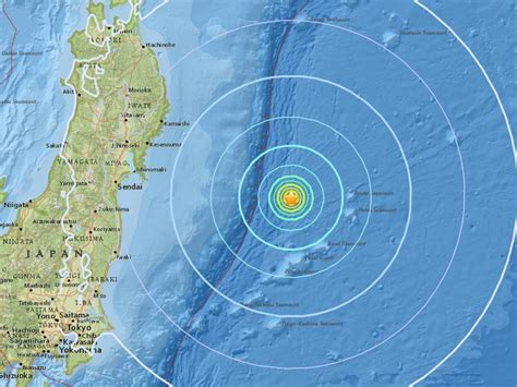 earthquake in japan japan earthquake magnitude 6 1 tremors hit east coast
