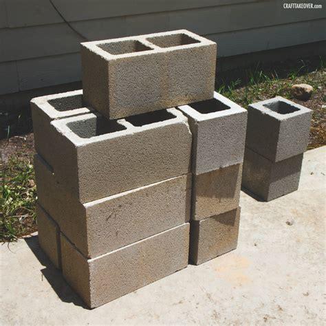Easy Cinder Block Planter Craft Takeover Concrete Block Planters