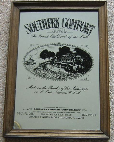 southern comfort mirror advertising prints and mirrors art collection dispersal sale