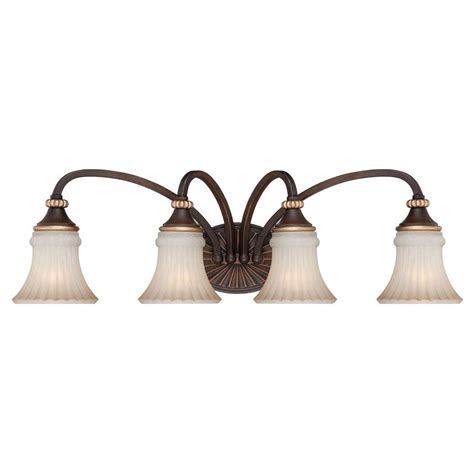 hton bay 4 light vanity fixture hton bay reims 4 light berre walnut vanity fixture 15364 the home depot