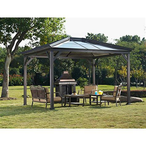 Metal Patio Gazebo Home Ideas For Gt Top Metal Gazebo Landscaping Gardening Ideas