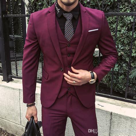 men suits  purple red tuxedo jackets groom wedding