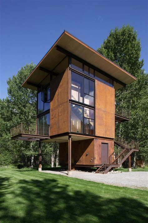 Compact Cottages delta shelter by olson kundig architects homedsgn