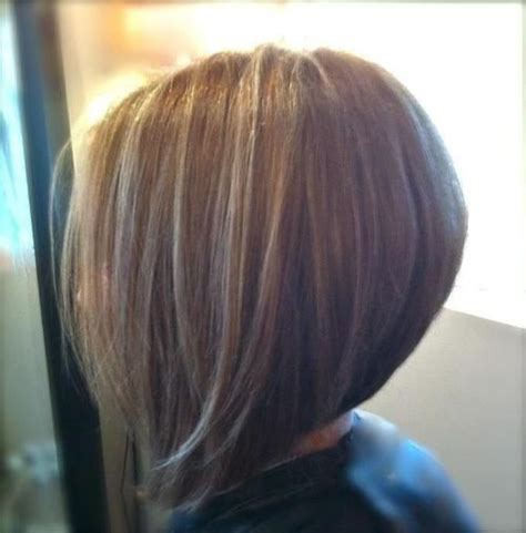 back view of angled or swing bobs medium inverted bob stack the back and thinning sheers
