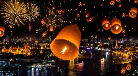 when is new year thailand thailand bangkok bagkok fireworks city new year wallpaper