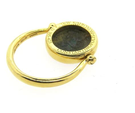 bulgari monete ancient coin gold flip ring for sale at 1stdibs