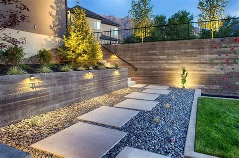 Pebbles And Rocks Garden Install Pebbles And River Stones Beautiful Landscape In The Garden Interior Design Ideas