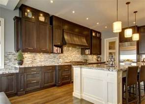 dark cabinets white island dark kitchen pinterest should cabinets match throughout house burrows cabinets