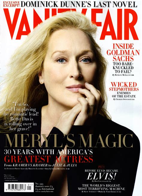 Cover Of Vanity Fair by Meryl On Vanity Fair Cover Jan 2010 Meryl Streep Photo