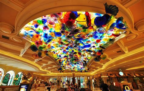 Chihuly Chandelier Price Bellagio Hotel Lobby With Dale Chihuly Glass Sculpture Flickr