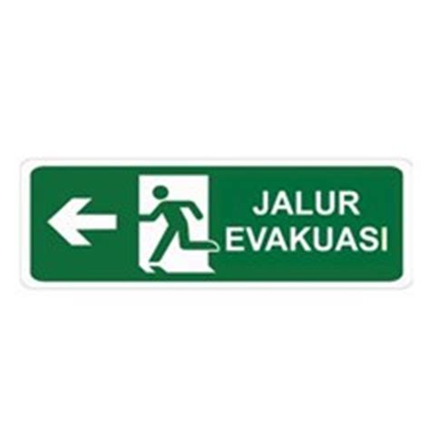 Stiker Tanda Jalur Evakuasi sell safety sign evacuation route kanan glow in the