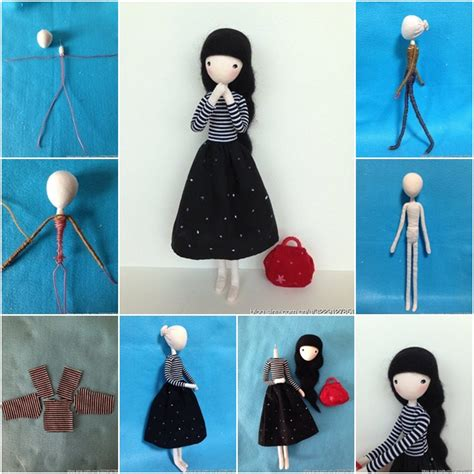 How To Make Doll With Paper - how to diy mini doll with wire