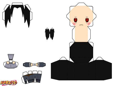 Papercraft Dolls - anbu itachi uchiha chibi doll free printable papercraft