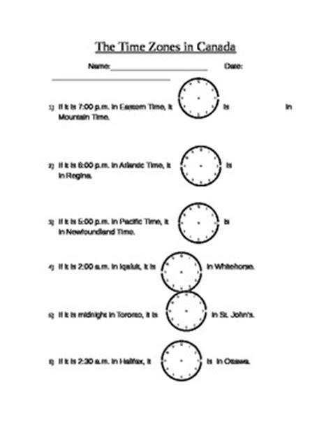 Time Zone Worksheet by Time Zone Worksheet By Teachers Pay Teachers