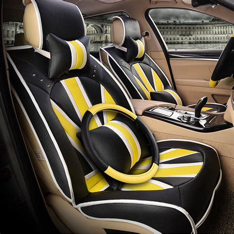 fiat 500 leather seat covers 3d style m word fiber leather car seat
