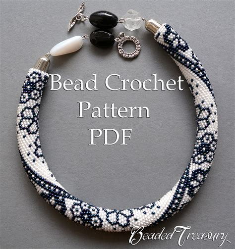 how to do bead crochet winter lace bead crochet pattern beaded flowers necklace seed