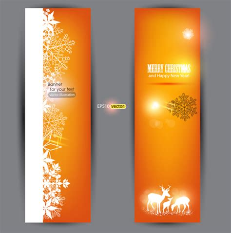 design banner orange orange xmas banner vector 01 vector banner vector