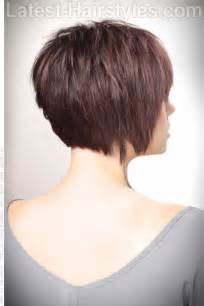 hair cuts back side side back textured bob short haircut with volume and