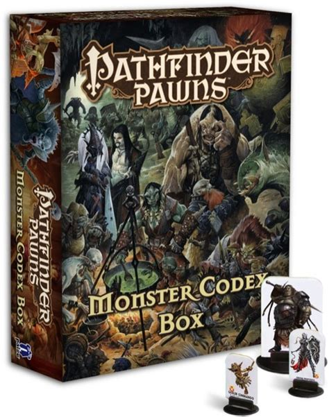 pathfinder pawns traps treasures pawn collection books paizo pathfinder pawns codex box