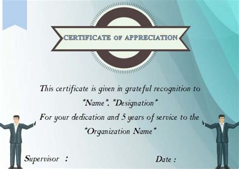 certificate for years of service template 24 certificate of service templates for employees formats