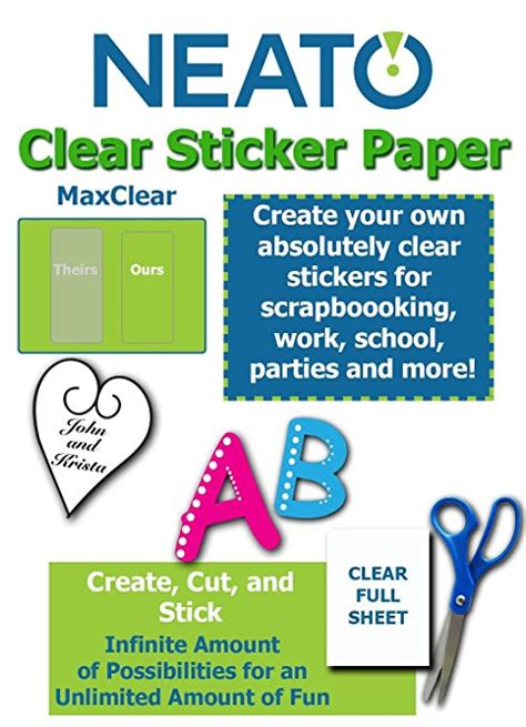 silhouette printable clear sticker paper laser inkjet sticker paper clear kamos sticker