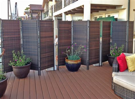 folding wicker partition screen outdoor privacy plus