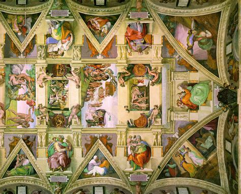 Ceiling Of The Sistine Chapel By Michelangelo by File Sistine Chapel Ceiling Right Png