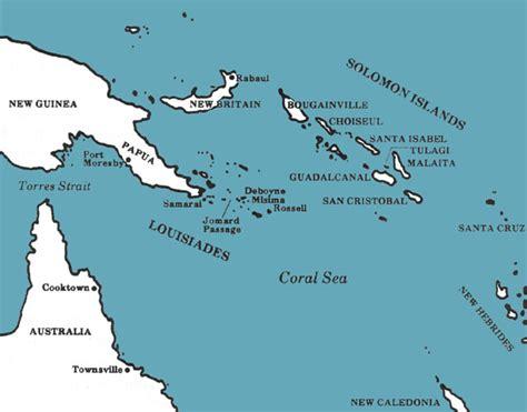 coral sea map a priceless advantage u s navy communications