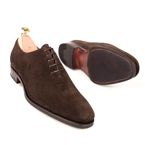 shoes like oxfords wholecut oxford in brown suede carmina