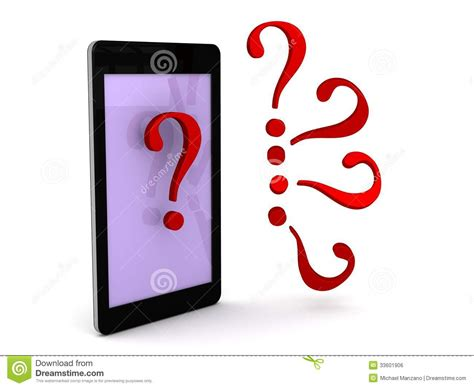 Or Question On Phone Smart Phone Assistance Royalty Free Stock Image Image 33601906