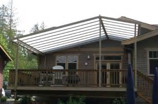 Free Standing Outdoor Fireplaces - custom gable patio cover on craftsman style home craftsman deck seattle by decks and
