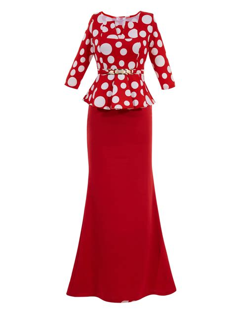 Dress Square 2 ericdress square neck polka dots half sleeves maxi dress