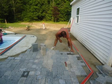 Paver Patio Drainage How To Install Paver Patio Drainage Modern Patio Outdoor